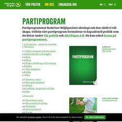 Partiprogram / Miljöpartiet de gröna