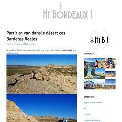 Partir en van dans le désert des Bardenas Reales