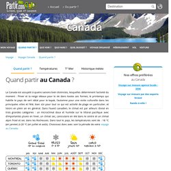 Quand partir au Canada ? Climat, météo et affluence