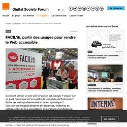FACIL'iti, partir des usages pour rendre le Web accessible