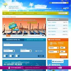 Carte des destinations - Plaisir de Partir - Aéroport Nice côte d'Azur