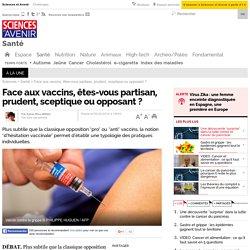 Face aux vaccins, êtes-vous partisan, prudent, sceptique ou opposant ?