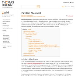 Partition Alignment - Thomas-Krenn-Wiki