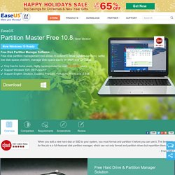 Best FREE Partition Manager Freeware for Windows 2000/XP/Vista/7 32 bit & 64 bit. EaseUS free Partition Manager Software Home Edition.