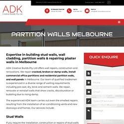 Partition Walls Melbourne - ADK Creative Builds Pty Ltd