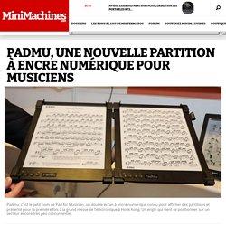 Padmu, une nouvelle partition à encre numérique pour musiciens