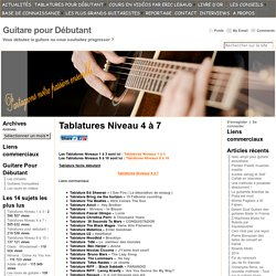 partition tablature gratuite debutant guitare