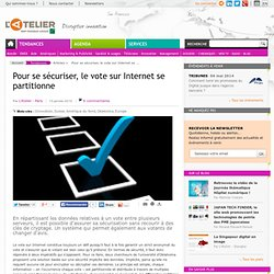 Pour se sécuriser, le vote sur Internet se partitionne