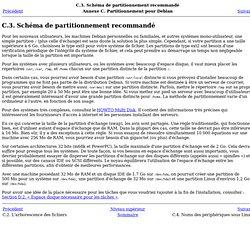 C.3.Schéma de partitionnement recommandé