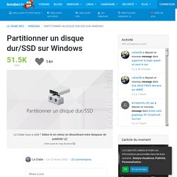 Partitionner un disque dur/SSD sur Windows