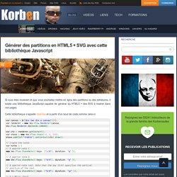 Générer des partitions en HTML5 + SVG avec cette bibliothèque Javascript