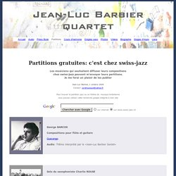 Partitions gratuites pour saxophone