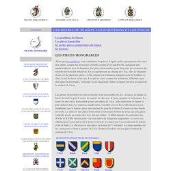 la geometrie dans le blason, les partitions heraldiques et les pieces heraldiques