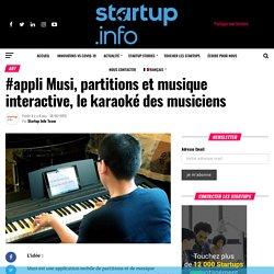 #appli Musi, partitions et musique interactive, le karaoké des musiciens