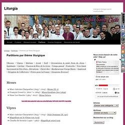 Partitions par thème liturgique