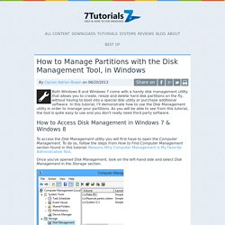How to Manage Partitions with the Disk Management Tool, in Windows