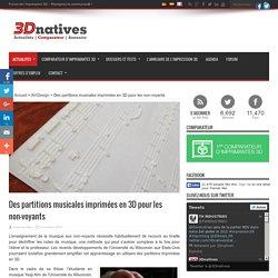 Des partitions musicales imprimées en 3D pour les non-voyants