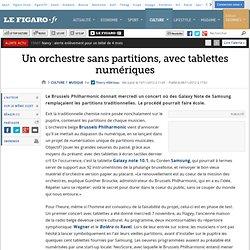 Musique : Un orchestre sans partitions, avec tablettes numériques