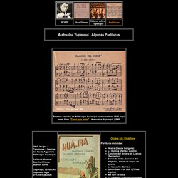 Atahualpa Yupanqui - Partitions Partituras Music sheets