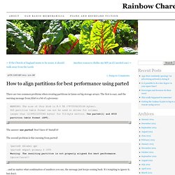How to align partitions for best performance using parted