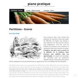 Partitions – Scores – piano pratique