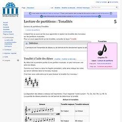 Lecture de partitions/Tonalités