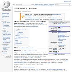 Partito Politico Futurista