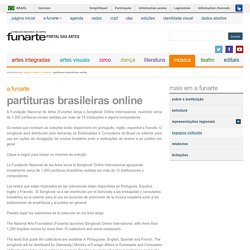 Partituras Brasileiras Online