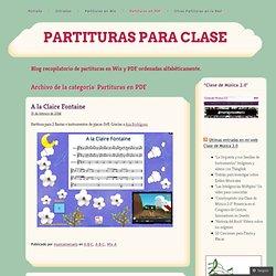 Partituras en PDF « Partituras para clase