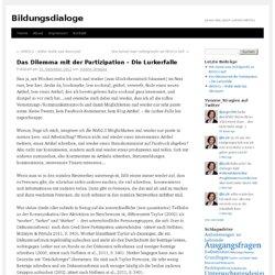 Das Dilemma mit der Partizipation – Die Lurkerfalle