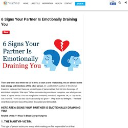 6 Signs Your Partner Is Emotionally Draining You