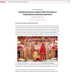 Find Best Partner Online With The Help of Vishw... - Online Matrimonial - Quora