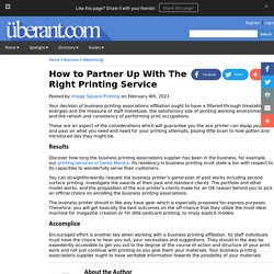 How to Partner Up With The Right Printing Service