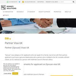 Join Partner or Spouse in the UK
