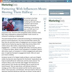 Partnering With Influencers Means Meeting Them Halfway 10/01/2015