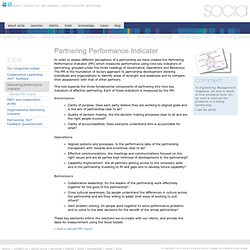 socia - tools Partnering Performance Indicator PPI