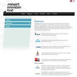 Partners - Mainport Innovation Fund