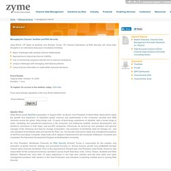 Managing the Channel with Zyme Solutions