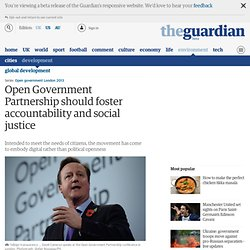 Open Government Partnership should foster accountability and social justice
