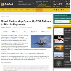 Bitnet Partnership Opens Up 260 Airlines to Bitcoin Payments