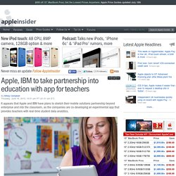 Apple, IBM to take partnership into education with app for teachers
