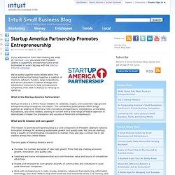Startup America Partnership Promotes Entrepreneurship