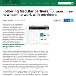Following MedStar partnership, Uber hires new team to work with providers