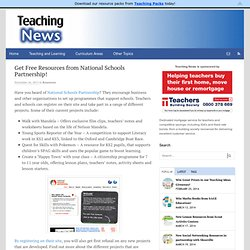 Get Free Resources from National Schools Partnership! | Teaching NewsTeaching News