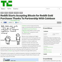 Reddit Starts Accepting Bitcoin for Reddit Gold Purchases Thanks To Partnership With Coinbase