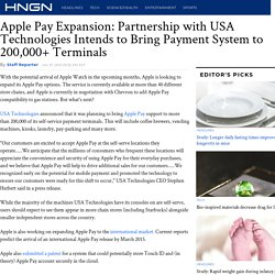 Apple Pay Expansion: Partnership with USA Technologies Intends to Bring Payment System to 200,000+ Terminals : Headlines