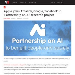 Apple joins Amazon, Google, Facebook in 'Partnership on AI' research project
