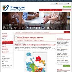Les plates-formes et associations de mobilité en Bourgogne (La Région en actions / Formation et emploi / Emploi et insertion)