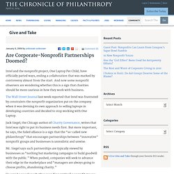 Are Corporate-Nonprofit Partnerships Doomed? - Give and Take