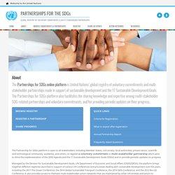 About SDGs Partnerships .:. Sustainable Development Knowledge Platform - United Nations Partnerships for SDGs platform